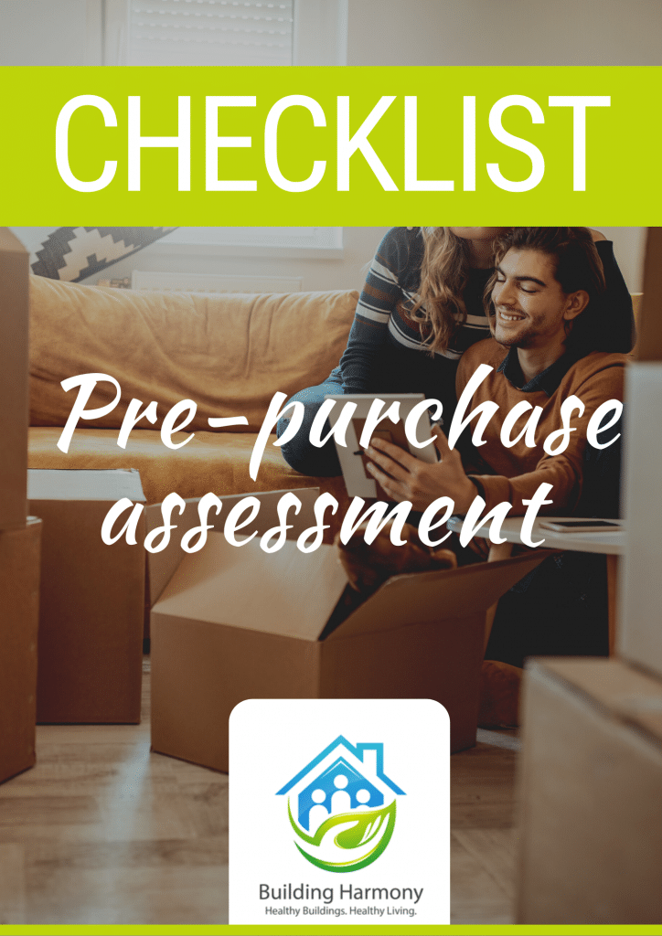 Pre-purchase assessment checklist cover page