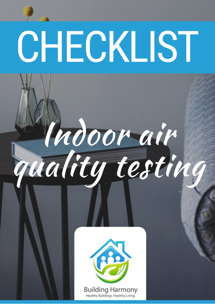Indoor air quality testing checklist cover page